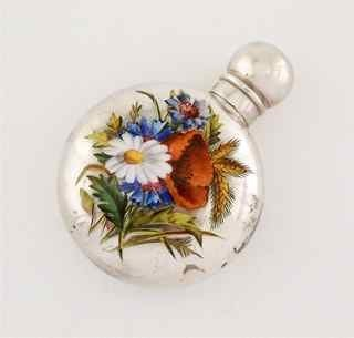 5: 1890 Chester Silver Enamel Scent Bottle