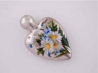 6: 1888 London Silver Enamel Scent Bottle
