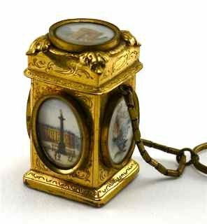 13: c1850 Palais Royale Finger Ring Perfume Bottle