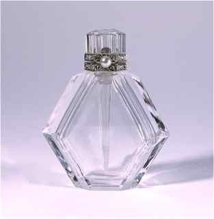 16: Rock Crystal Platinum Diamond Scent Bottle