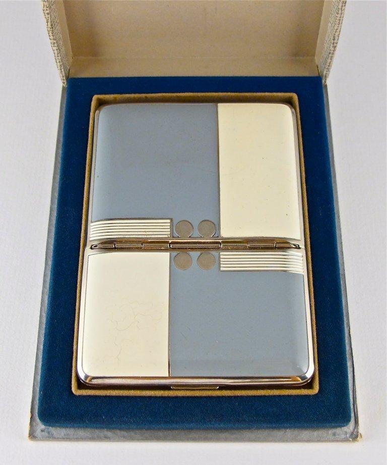 47: 1920s Hudnut Enamel Compact-Cigarette Case