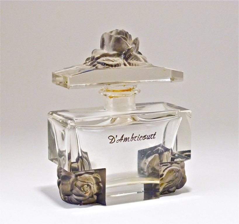 66: c1930 Czech Crystal Commercial Perfume Bottle