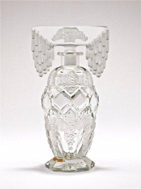 C1930 Czech Crystal Tiara Stopper Perfume Bottle