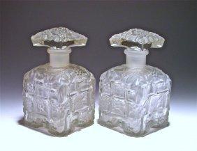 1930s Hoffmann Frost Crystal Czech Bottles