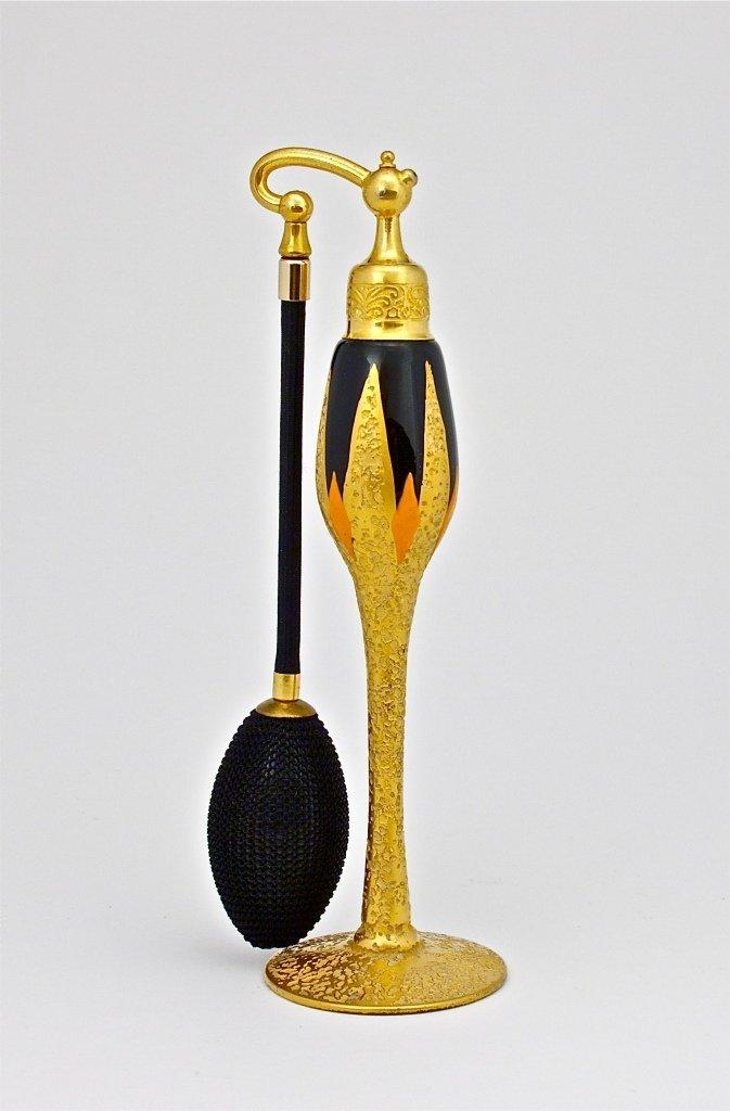84: 1926 DeVilbiss Gold Black and Orange Atomizer