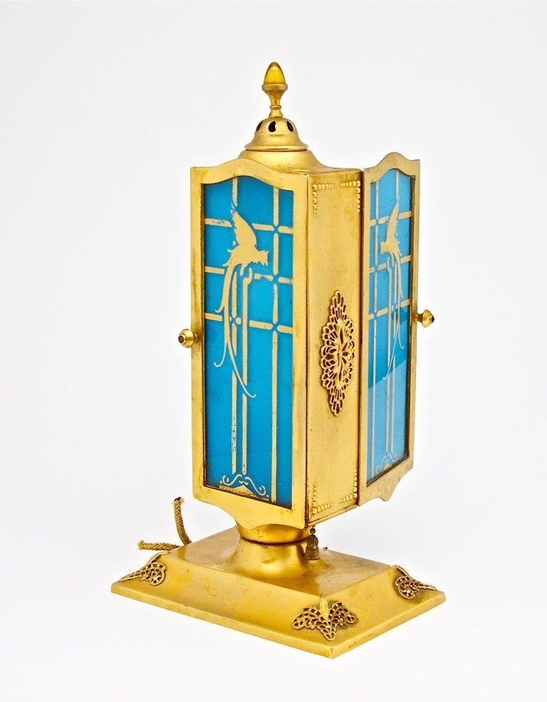 93: 1926 DeVilbiss Glass and Metal Perfume Lamp