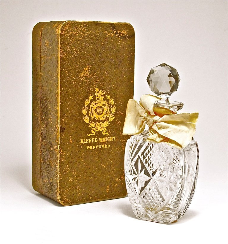123: 1880s A. Wright Clover of India Perfume Bottle