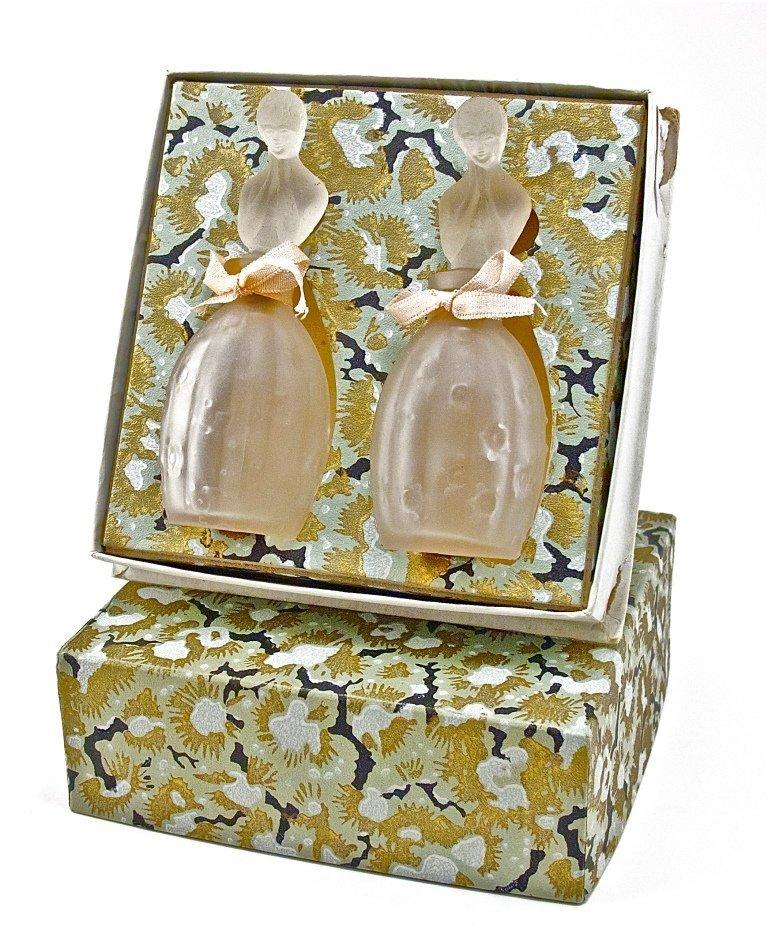 126: 1929 Lander Figural Perfume Bottles in Box