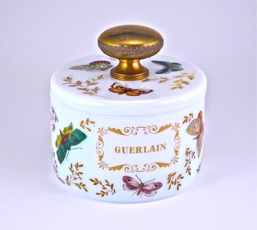 139: 1955 Guerlain Shalimar Opaline Glass Box