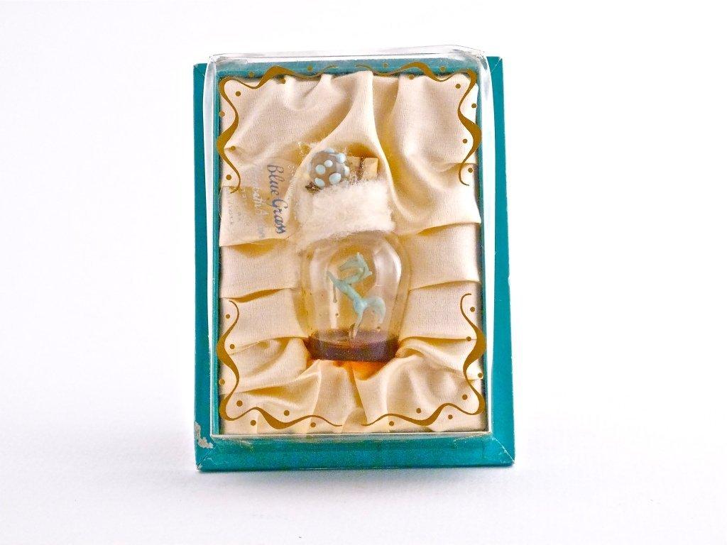 144: 1930s Arden Blue Grass Mini Perfume Bottle