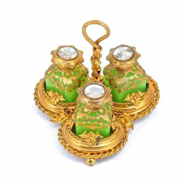 c1870 Palais Royal Porcelain Perfume Caddy