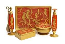 1927 DeVilbiss five piece vanity set