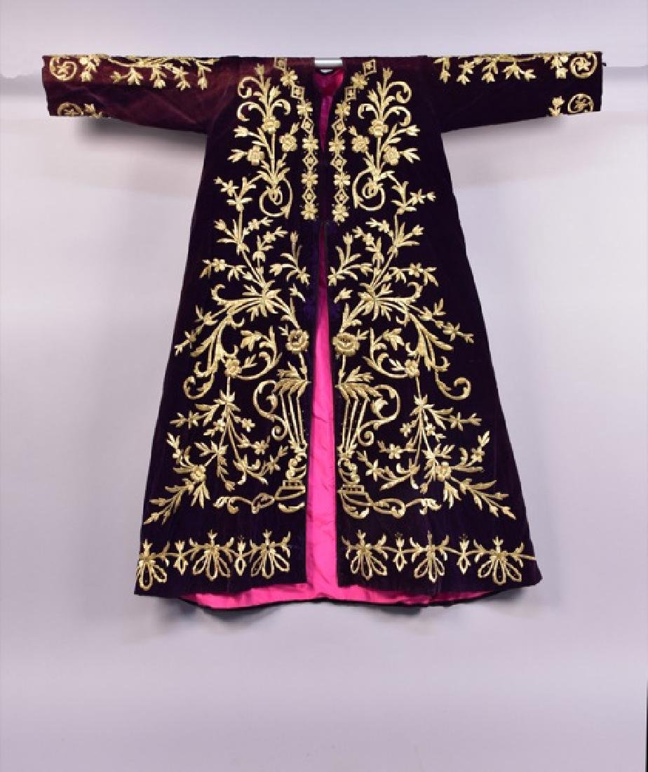 MIDDLE EASTERN METALLIC EMBROIDERED ROBE, EARLY 20th C.