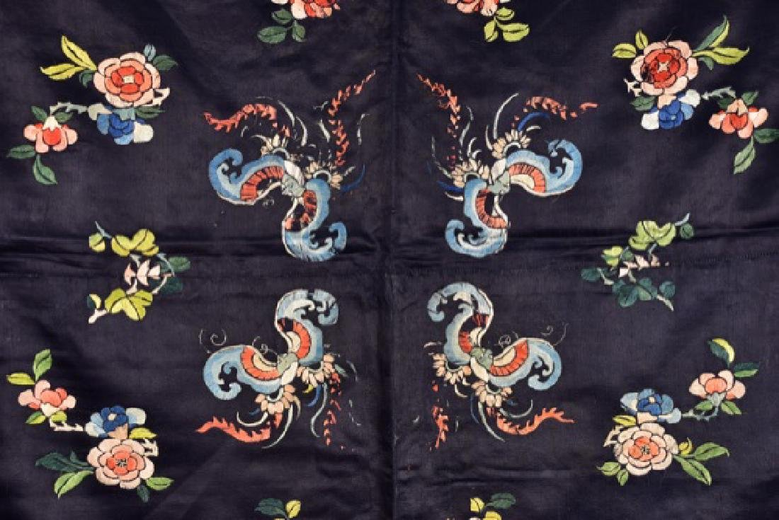 CHINESE SILK EMBROIDERED PANEL, 19th C