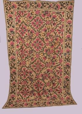 Embroidered Suzani, 19th C