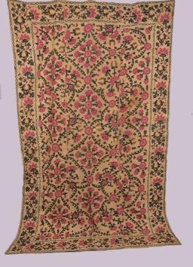 EMBROIDERED SUZANI, 19th C