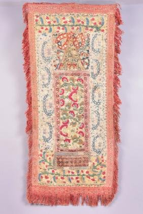 PRAYER SUZANI, 19th C
