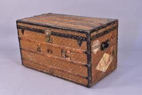 LOUIS VUITTON STEAMER TRUNK, 19th early 20th C