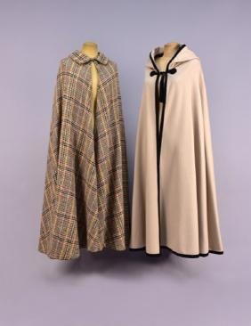 TWO LADIES PARIS DESIGNER WOOL CAPES