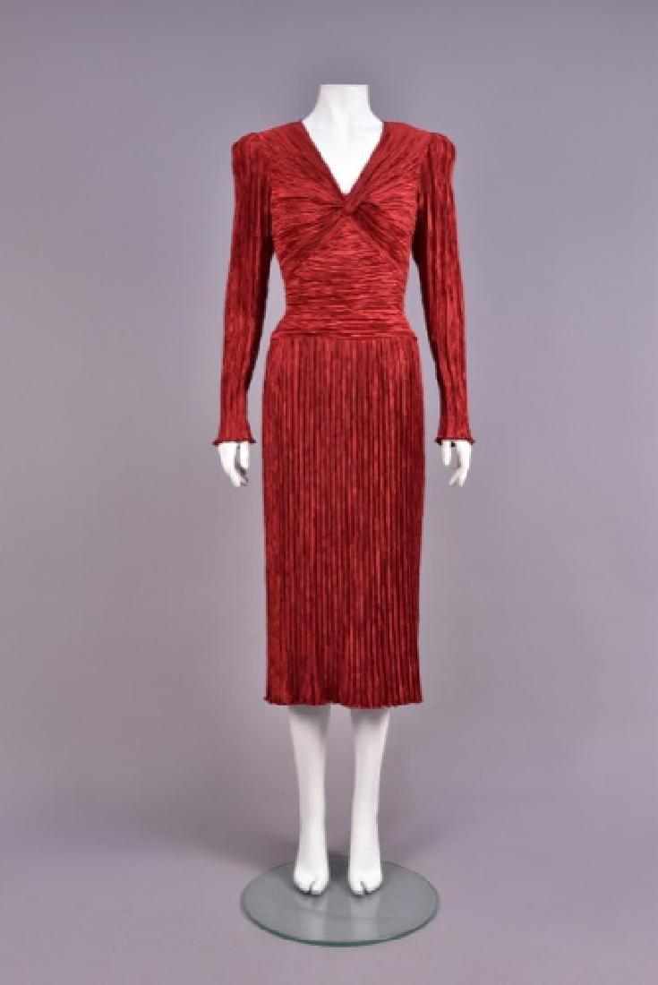 MARY McFADDEN PLEATED DRESS, 1980s