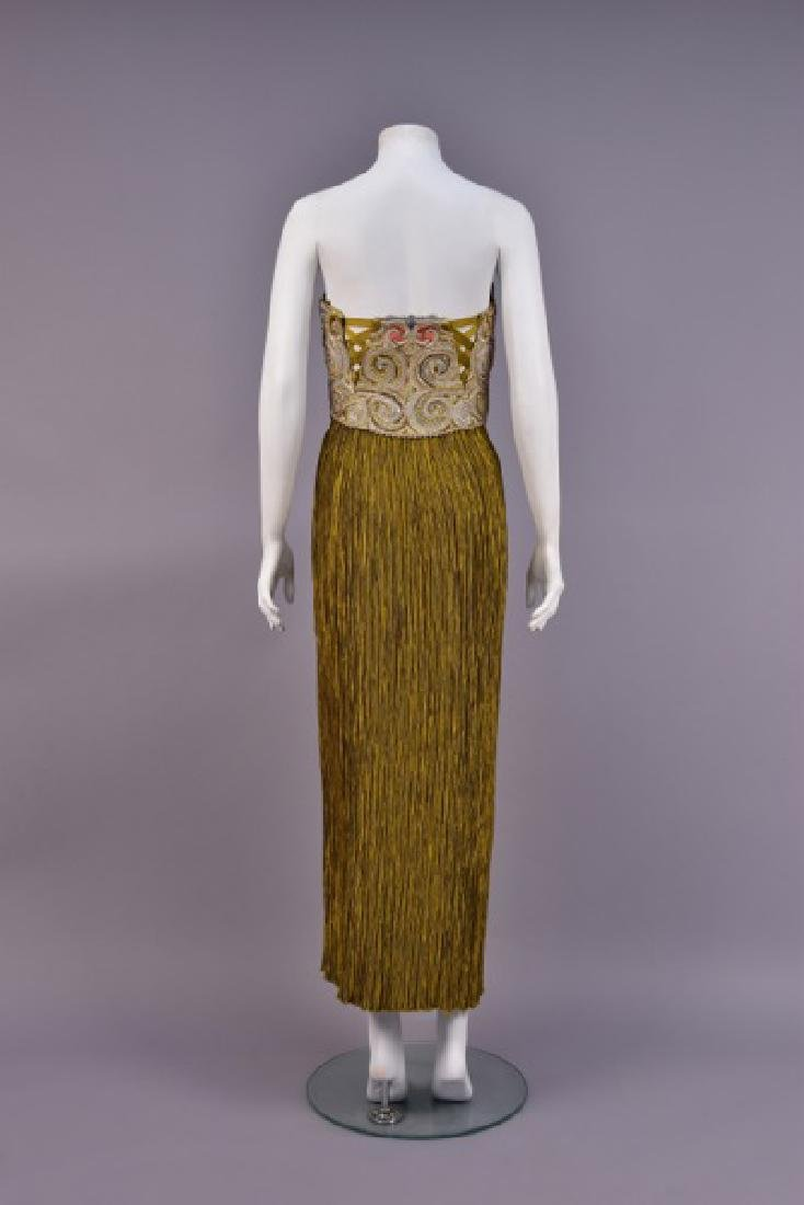 MARY McFADDEN BEADED STRAPLESS EVENING GOWN, c. 1980.