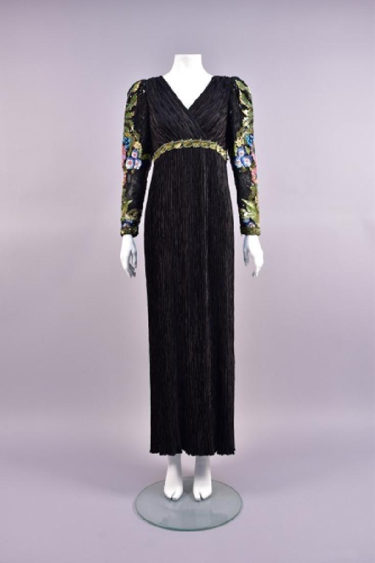 MARY McFADDEN BEADED EVENING DRESS, 1980s