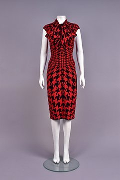 ALEXANDER McQUEEN DOGTOOTH DRESS and NECKPIECE, 2009
