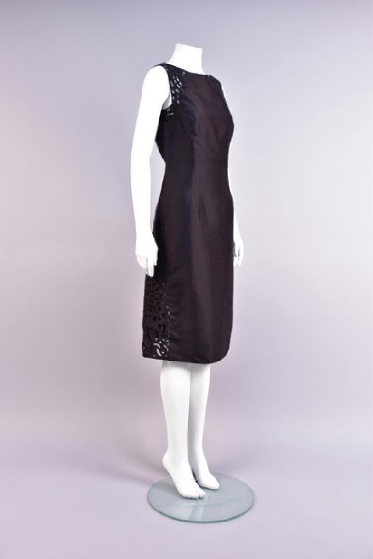 MARY McFADDEN SILK DRESS with CUTWORK