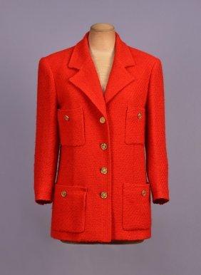 Chanel Textured Weave Wool Jacket