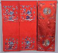 PAIR of CHINESE WOOL CHAIR COVERS, EARLY 20th C