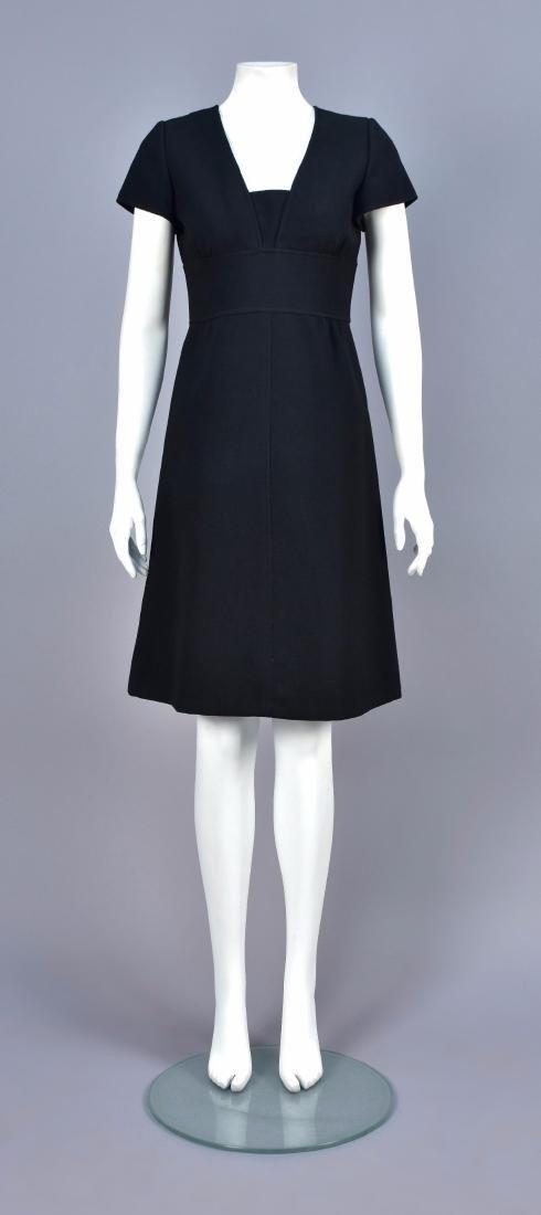 COURREGES BLACK DAY DRESS, 1960s