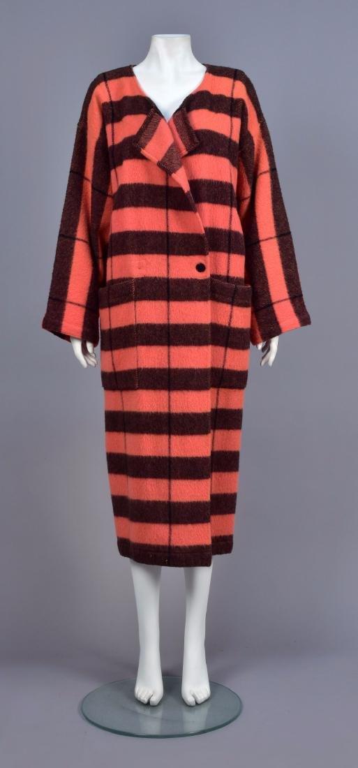 JEAN CHARLES de CASTELBAJAC STRIPED WOOL COAT, 1980s