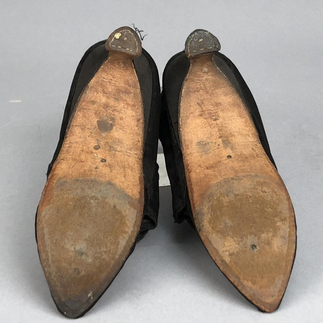 SATIN SHOES with DIAMANTE BUCKLES, 1770s - 3