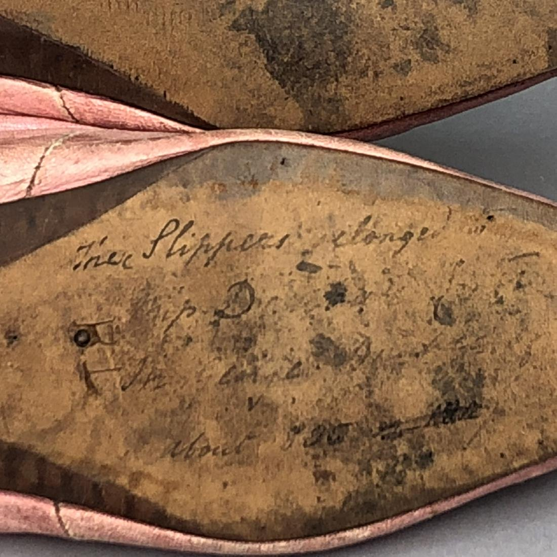 PINK KID SHOES with CORD DECORATION, LATE 1790s - 4