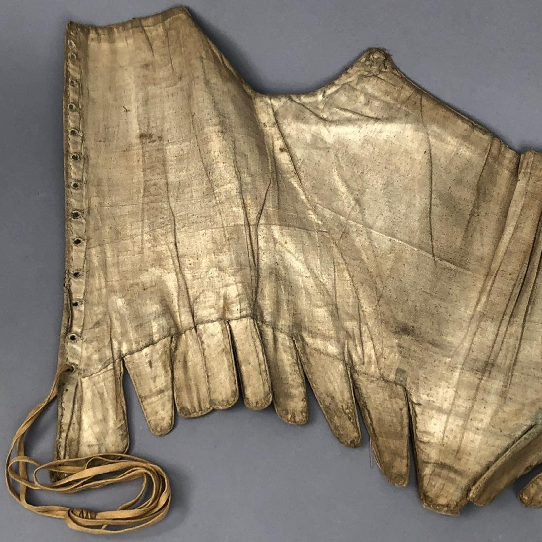 EARLY OFF-WHITE LINEN CORSET, 1740s - 7