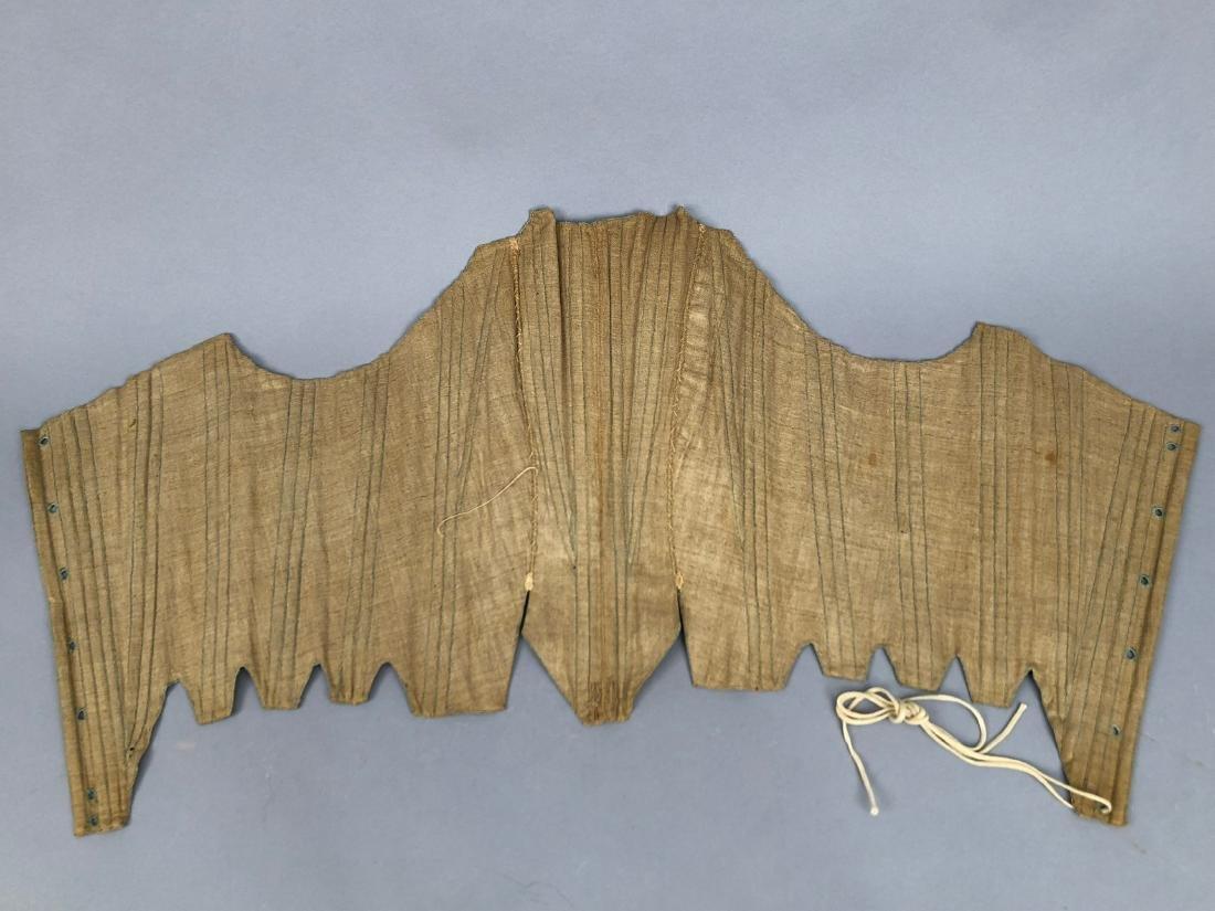 NATURAL LINEN CORSET, 1780s