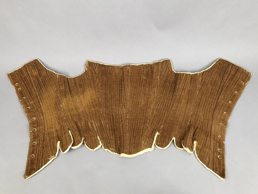 AMERICAN BROWN LINEN CORSET, 1780