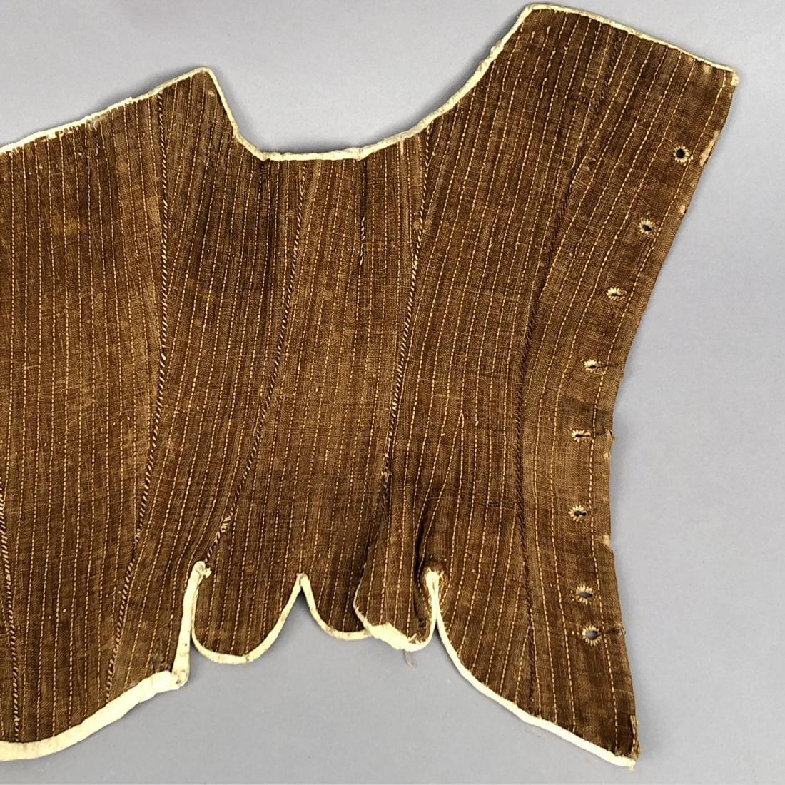 AMERICAN BROWN LINEN CORSET, 1780 - 2
