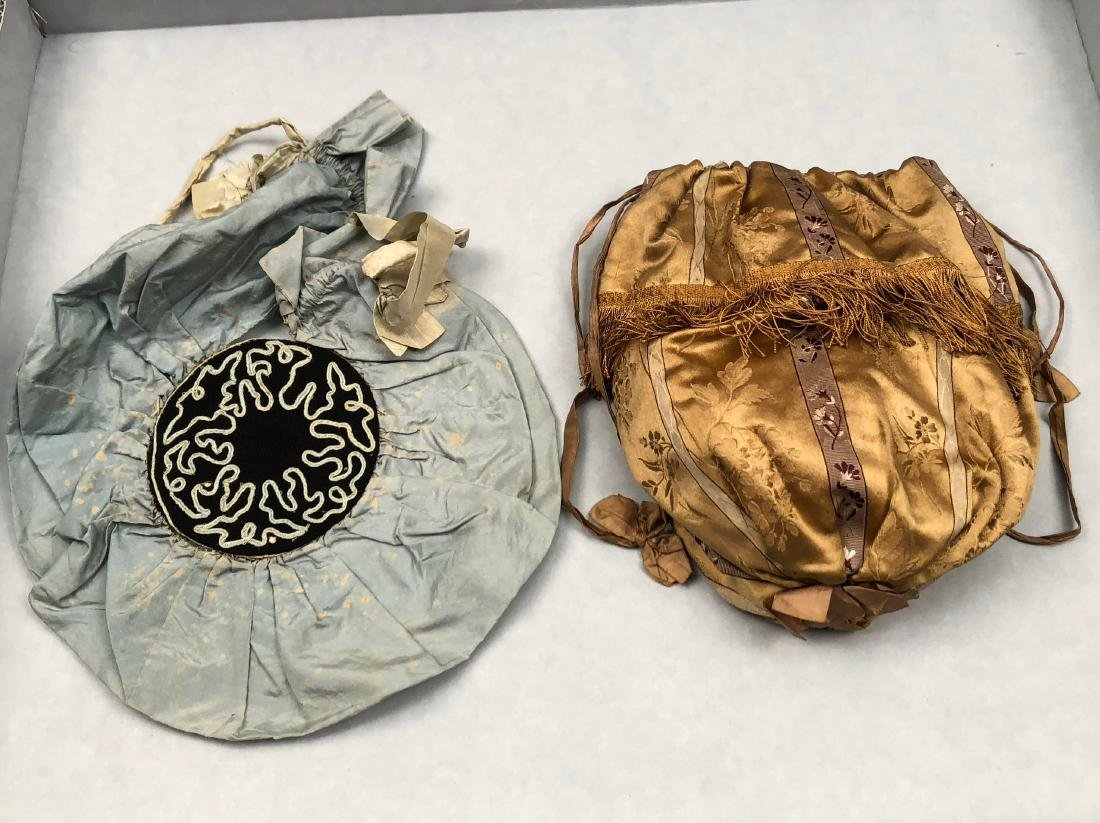 TWO SILK PURSES, 1790s - 1820s