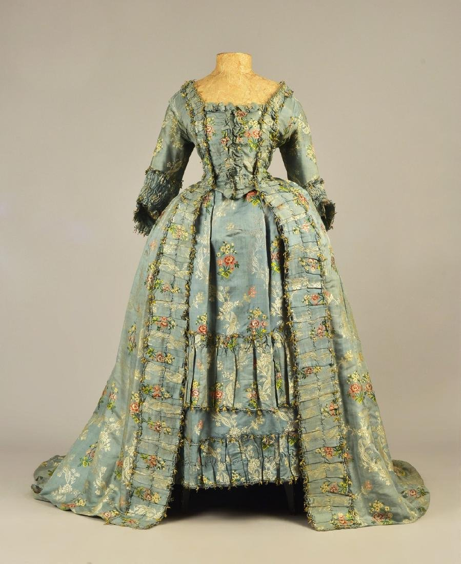 SACQUE GOWN and PETTICOAT, JOHN HANCOCK ESTATE, c. 1755