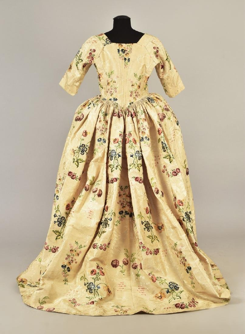 SPITALFIELDS SILK OPEN GOWN and PETTICOAT, 1780 - 2