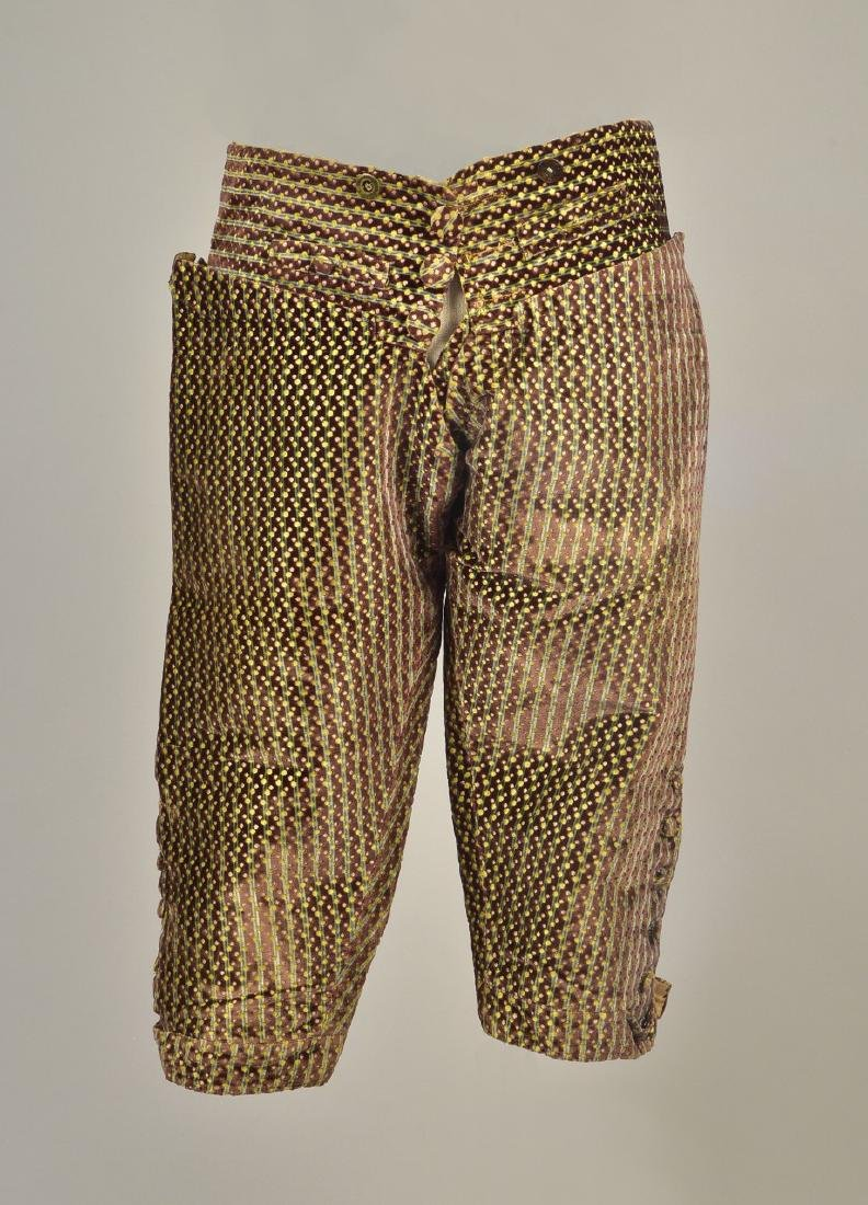 FIGURED and CUT VELVET BREECHES, c. 1760