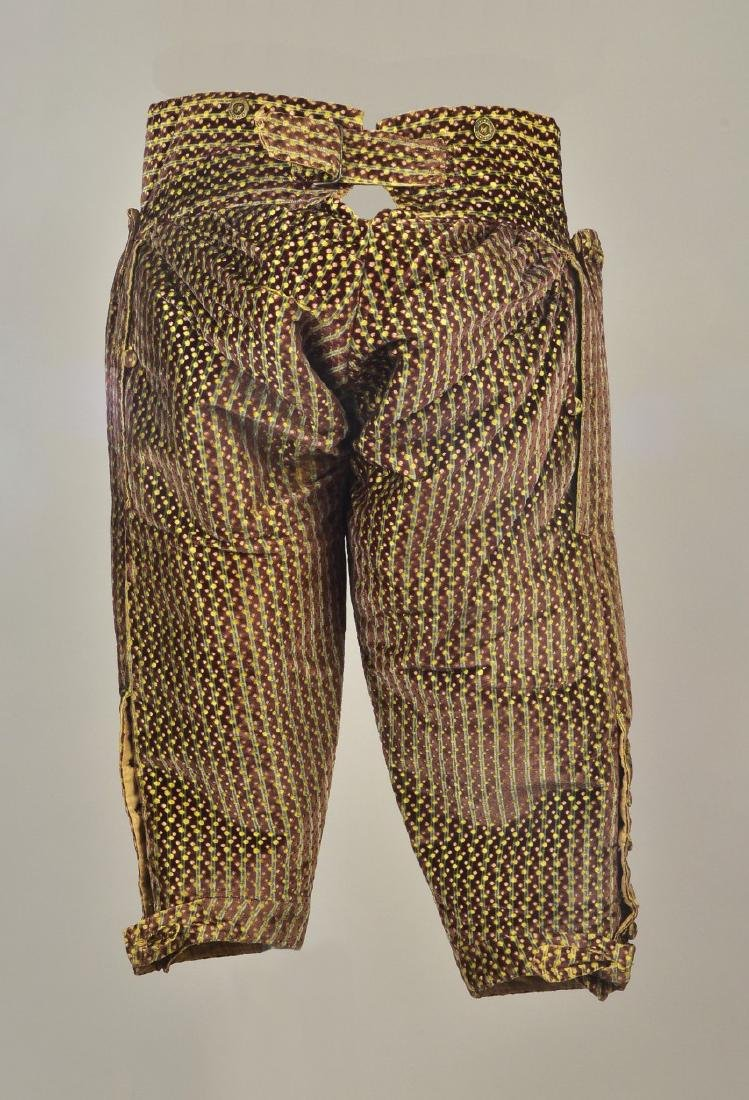 FIGURED and CUT VELVET BREECHES, c. 1760 - 2