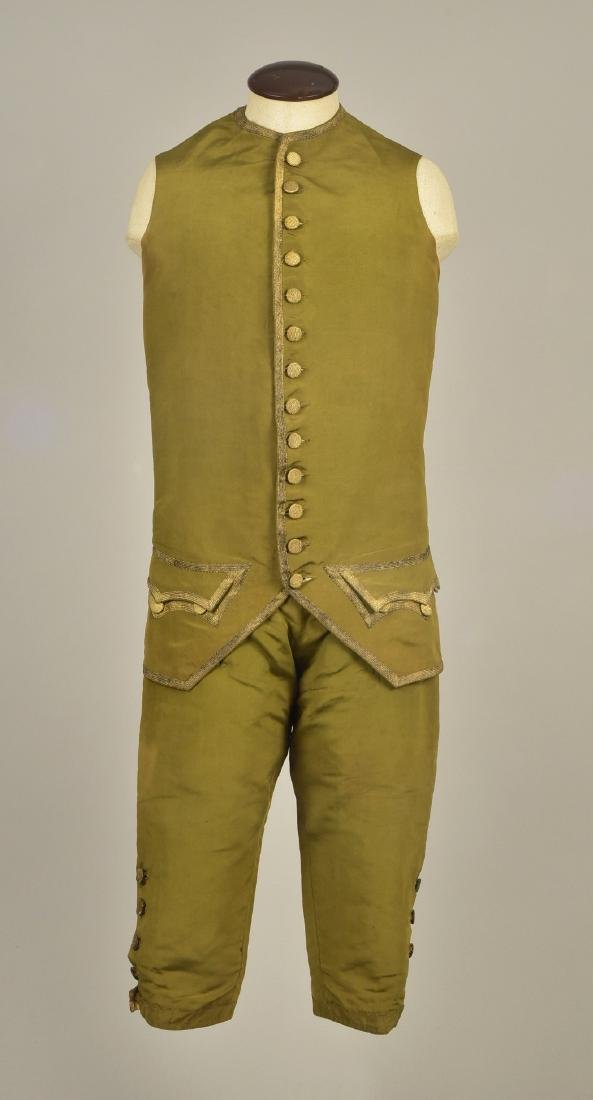 GENTLEMAN'S SILK WAISTCOAT and BREECHES, 1760