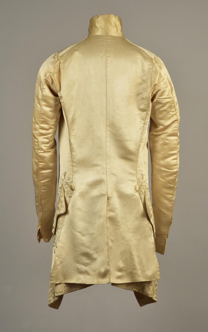 GENTLEMAN'S SATIN EMBROIDERED WEDDING COAT, 1740s - 2
