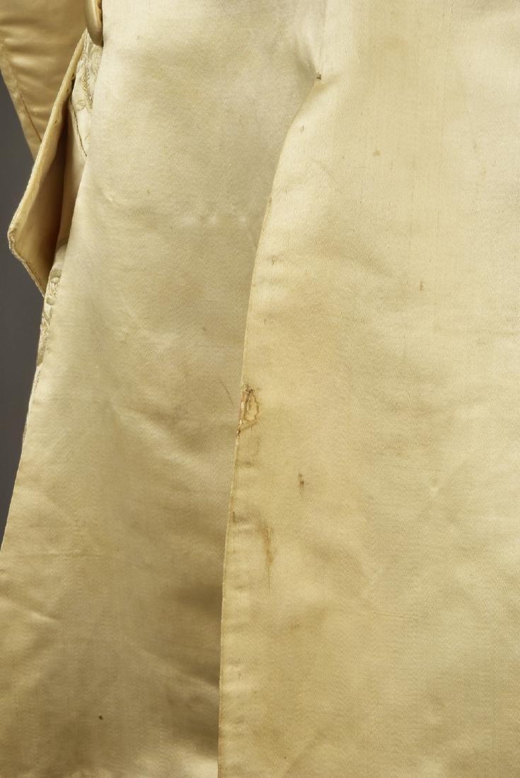 GENTLEMAN'S SATIN EMBROIDERED WEDDING COAT, 1740s - 4