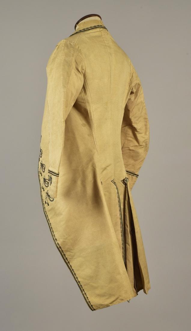 GENTLEMAN'S EMBROIDERED COAT and WAISTCOAT, 1780s - 2
