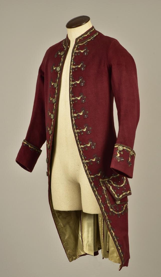 GENTLEMAN'S EMBROIDERED WOOL COAT, 1780