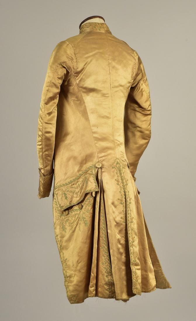 GENTLEMAN'S  EMBROIDERED SATIN COAT, 1785 - 2