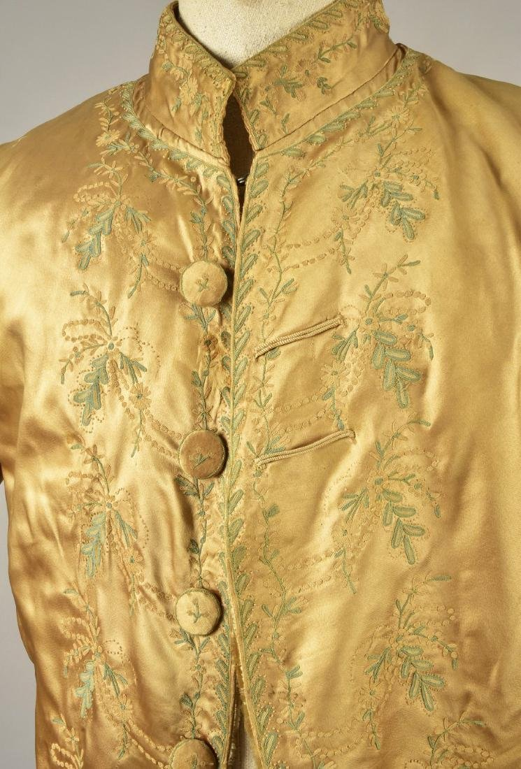 GENTLEMAN'S  EMBROIDERED SATIN COAT, 1785 - 3